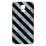 STRIPES3 BLACK MARBLE & ICE CRYSTALS Samsung Galaxy S5 Back Case (White)