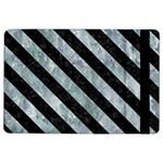 STRIPES3 BLACK MARBLE & ICE CRYSTALS iPad Air 2 Flip