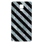 STRIPES3 BLACK MARBLE & ICE CRYSTALS Galaxy Note 4 Back Case