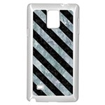 STRIPES3 BLACK MARBLE & ICE CRYSTALS Samsung Galaxy Note 4 Case (White)