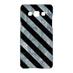 STRIPES3 BLACK MARBLE & ICE CRYSTALS Samsung Galaxy A5 Hardshell Case