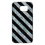 STRIPES3 BLACK MARBLE & ICE CRYSTALS Galaxy S6