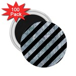 STRIPES3 BLACK MARBLE & ICE CRYSTALS (R) 2.25  Magnets (100 pack)