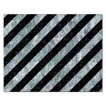 STRIPES3 BLACK MARBLE & ICE CRYSTALS (R) Rectangular Jigsaw Puzzl