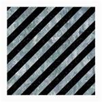 STRIPES3 BLACK MARBLE & ICE CRYSTALS (R) Medium Glasses Cloth