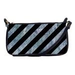 STRIPES3 BLACK MARBLE & ICE CRYSTALS (R) Shoulder Clutch Bags