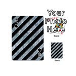 STRIPES3 BLACK MARBLE & ICE CRYSTALS (R) Playing Cards 54 (Mini)