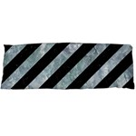 STRIPES3 BLACK MARBLE & ICE CRYSTALS (R) Body Pillow Case Dakimakura (Two Sides)