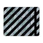 STRIPES3 BLACK MARBLE & ICE CRYSTALS (R) Samsung Galaxy Tab Pro 8.4  Flip Case