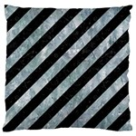 STRIPES3 BLACK MARBLE & ICE CRYSTALS (R) Standard Flano Cushion Case (Two Sides)