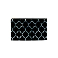 TILE1 BLACK MARBLE & ICE CRYSTALS (R) Cosmetic Bag (Small)  from DesignYourOwnGift.com Front