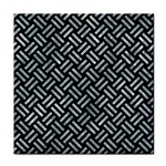 WOVEN2 BLACK MARBLE & ICE CRYSTALS (R) Tile Coasters