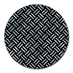 WOVEN2 BLACK MARBLE & ICE CRYSTALS (R) Round Mousepads