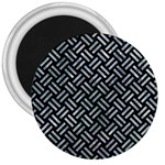 WOVEN2 BLACK MARBLE & ICE CRYSTALS (R) 3  Magnets