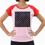 WOVEN2 BLACK MARBLE & ICE CRYSTALS (R) Women s Cap Sleeve T-Shirt