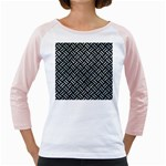 WOVEN2 BLACK MARBLE & ICE CRYSTALS (R) Girly Raglans