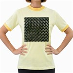WOVEN2 BLACK MARBLE & ICE CRYSTALS (R) Women s Fitted Ringer T-Shirts