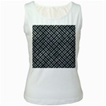 WOVEN2 BLACK MARBLE & ICE CRYSTALS (R) Women s White Tank Top