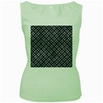 WOVEN2 BLACK MARBLE & ICE CRYSTALS (R) Women s Green Tank Top