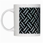 WOVEN2 BLACK MARBLE & ICE CRYSTALS (R) White Mugs