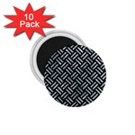 WOVEN2 BLACK MARBLE & ICE CRYSTALS (R) 1.75  Magnets (10 pack)
