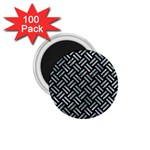 WOVEN2 BLACK MARBLE & ICE CRYSTALS (R) 1.75  Magnets (100 pack)