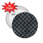 WOVEN2 BLACK MARBLE & ICE CRYSTALS (R) 2.25  Buttons (10 pack)