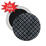 WOVEN2 BLACK MARBLE & ICE CRYSTALS (R) 2.25  Magnets (100 pack)