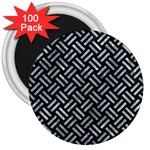 WOVEN2 BLACK MARBLE & ICE CRYSTALS (R) 3  Magnets (100 pack)
