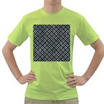 WOVEN2 BLACK MARBLE & ICE CRYSTALS (R) Green T-Shirt