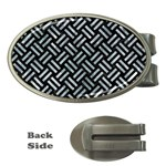 WOVEN2 BLACK MARBLE & ICE CRYSTALS (R) Money Clips (Oval)