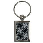 WOVEN2 BLACK MARBLE & ICE CRYSTALS (R) Key Chains (Rectangle)
