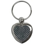 WOVEN2 BLACK MARBLE & ICE CRYSTALS (R) Key Chains (Heart)