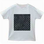 WOVEN2 BLACK MARBLE & ICE CRYSTALS (R) Kids White T-Shirts