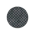 WOVEN2 BLACK MARBLE & ICE CRYSTALS (R) Magnet 3  (Round)
