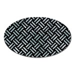 WOVEN2 BLACK MARBLE & ICE CRYSTALS (R) Oval Magnet
