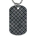WOVEN2 BLACK MARBLE & ICE CRYSTALS (R) Dog Tag (One Side)