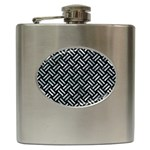 WOVEN2 BLACK MARBLE & ICE CRYSTALS (R) Hip Flask (6 oz)