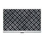 WOVEN2 BLACK MARBLE & ICE CRYSTALS (R) Business Card Holders