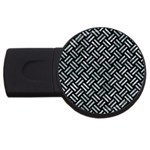 WOVEN2 BLACK MARBLE & ICE CRYSTALS (R) USB Flash Drive Round (2 GB)