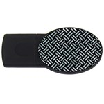 WOVEN2 BLACK MARBLE & ICE CRYSTALS (R) USB Flash Drive Oval (2 GB)