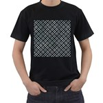 WOVEN2 BLACK MARBLE & ICE CRYSTALS (R) Men s T-Shirt (Black) (Two Sided)