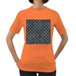 WOVEN2 BLACK MARBLE & ICE CRYSTALS (R) Women s Dark T-Shirt