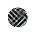 WOVEN2 BLACK MARBLE & ICE CRYSTALS (R) Hat Clip Ball Marker (4 pack)