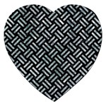 WOVEN2 BLACK MARBLE & ICE CRYSTALS (R) Jigsaw Puzzle (Heart)