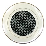 WOVEN2 BLACK MARBLE & ICE CRYSTALS (R) Porcelain Plates