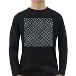 WOVEN2 BLACK MARBLE & ICE CRYSTALS (R) Long Sleeve Dark T-Shirts