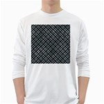 WOVEN2 BLACK MARBLE & ICE CRYSTALS (R) White Long Sleeve T-Shirts