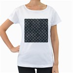WOVEN2 BLACK MARBLE & ICE CRYSTALS (R) Women s Loose-Fit T-Shirt (White)
