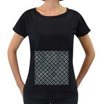 WOVEN2 BLACK MARBLE & ICE CRYSTALS (R) Women s Loose-Fit T-Shirt (Black)